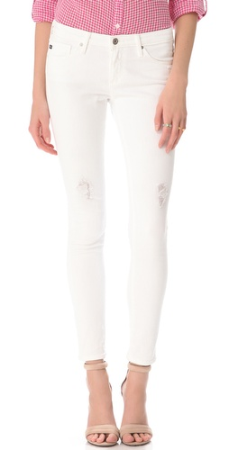 AG Adriano Goldschmied Destroyed Ankle Legging Jeans