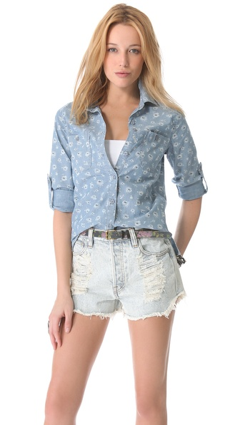 AG Adriano Goldschmied Liberty for AG The Collette Basic Shirt
