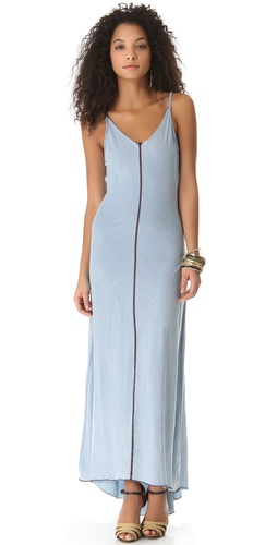 Shop AG Adriano Goldschmied V Neck Racer Maxi Dress and AG Adriano Goldschmied online - Apparel, Womens, Dresses, Day,  online Store