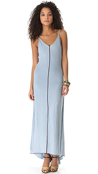 AG Adriano Goldschmied V Neck Racer Maxi Dress