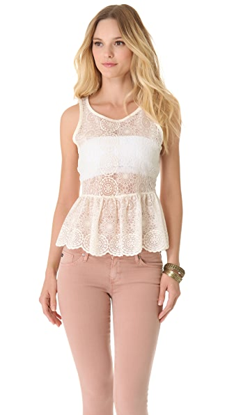 AG Adriano Goldschmied Scarlett Sleeveless Peplum Top
