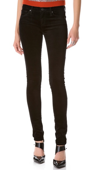 AG Adriano Goldschmied Super Skinny Velvet Pants