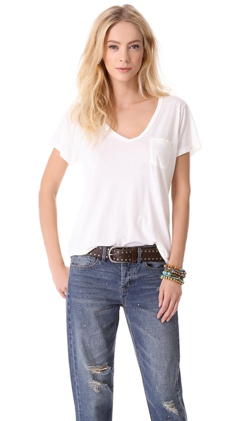 AG Adriano Goldschmied V Neck Pocket Tee