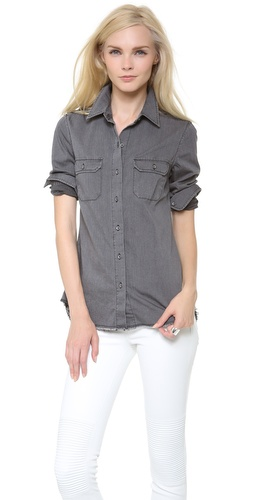 AG Adriano Goldschmied Dakota Chambray Shirt at Shopbop / East Dane