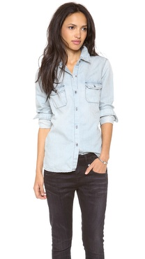 AG Adriano Goldschmied Lightweight Denim Shirt