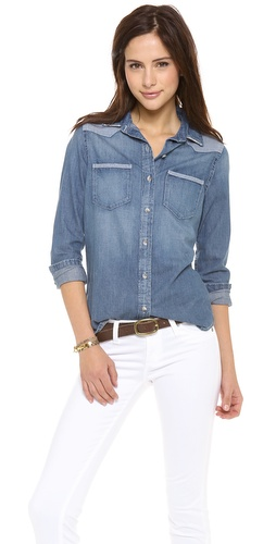 AG Adriano Goldschmied Denim Chambray Shirt at Shopbop / East Dane