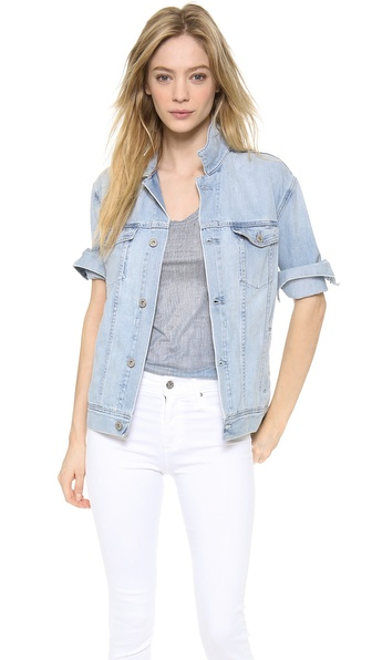 Ag Adriano Goldschmied Nancy Oversized Denim Jacket - Blue Jay at Shopbop / East Dane