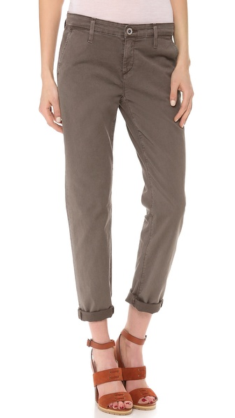 Ag Adriano Goldschmied The Tristan Tailored Trousers - Sulfur Dark Truffle at Shopbop / East Dane
