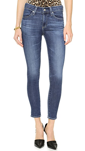 AG Adriano Goldschmied The Farrah High Rise Skinny Crop Jeans