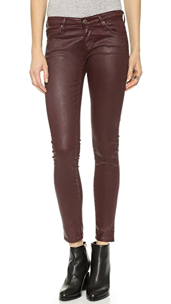 AG The Legging Ankle Super Skinny Leatherette Jeans