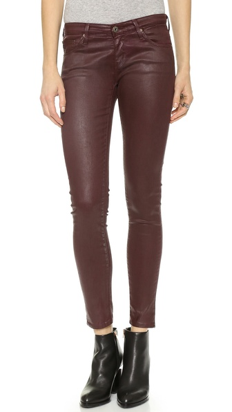 AG Adriano Goldschmied The Legging Ankle Super Skinny Leatherette Jeans