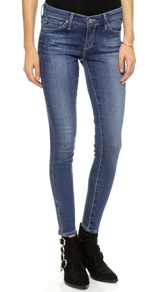 AG Adriano Goldschmied Zip Up Legging Ankle Skinny Jean