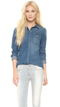 AG Adriano Goldschmied Finch Chambray Shirt