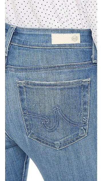 AG Farrah 高腰紧身九分牛仔裤
