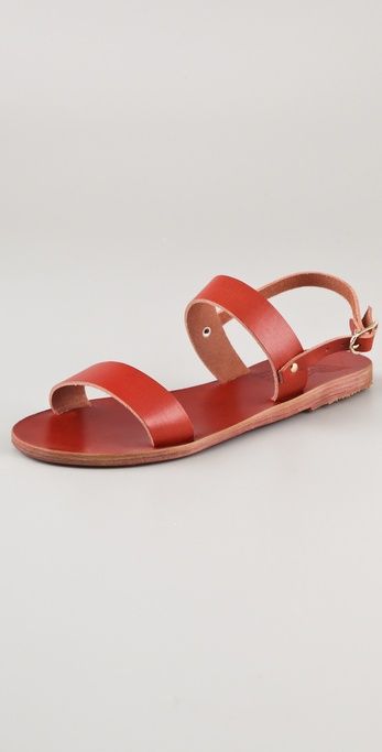 Ancient Greek Sandals Clio Flat Slide Sandals