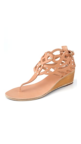 Ancient Greek Sandals Medea Wedge Thong Sandals