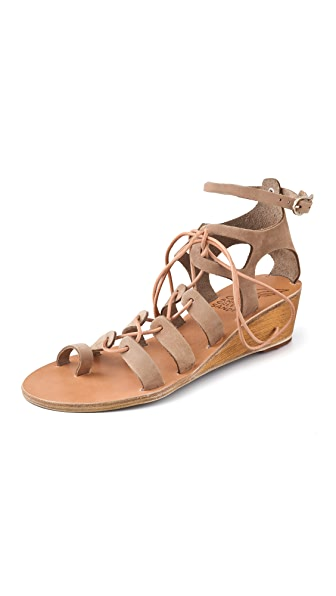 Ancient Greek Sandals Kiveli Lace Up Wedge Sandals
