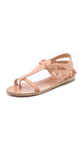 Ancient Greek Sandals Ariadne T-Strap Sandals - Natural at Shopbop / East Dane