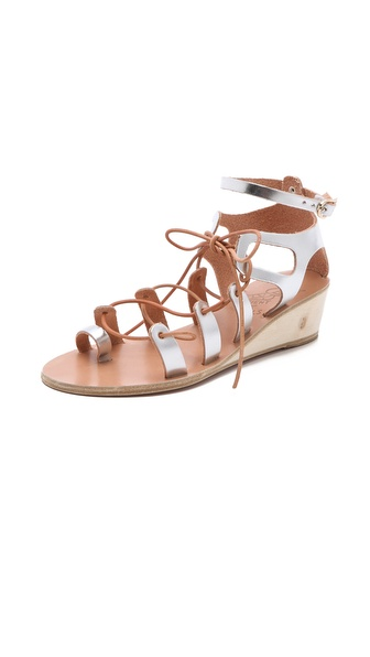 Ancient Greek Sandals Kiveli Demi Wedge Sandals - Silver at Shopbop / East Dane