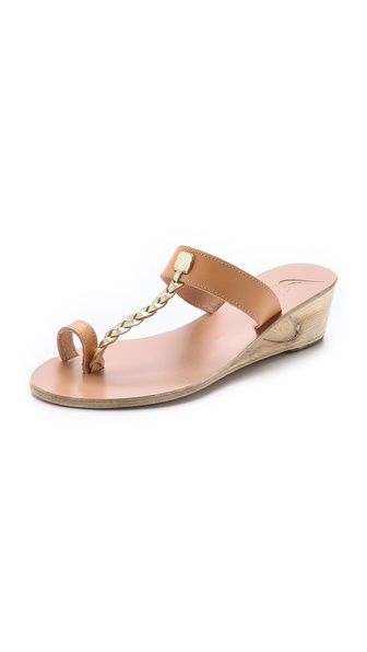Ancient Greek Sandals Melpomeni Wedge Sandals - Natural/Cracked Gold at Shopbop / East Dane