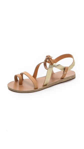 Ancient Greek Sandals Phoebe Flat Sandals - Natural/Cracked Gold at Shopbop / East Dane