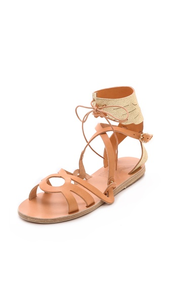 Ancient Greek Sandals Elpida Wing Sandals - Natural/Cracked Gold at Shopbop / East Dane