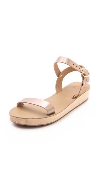 Ancient Greek Sandals Drama Platform Sandals - Metal Sand at Shopbop / East Dane