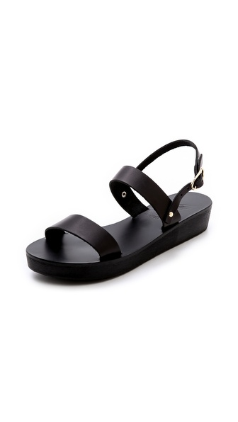 Ancient Greek Sandals Clio Platform Sandals - Black at Shopbop / East Dane