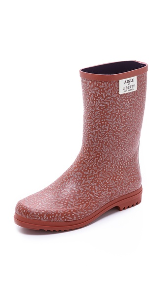 Aigle Chanteliboot Printed Boots - Bois De Rose at Shopbop / East Dane