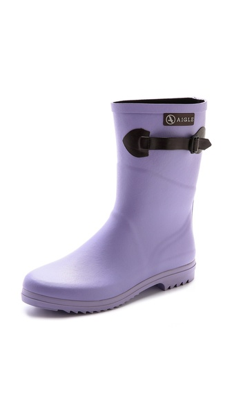Aigle Chanteboot Pop Booties - Lavender at Shopbop / East Dane