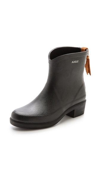 Aigle Miss Juliette Booties - Black at Shopbop / East Dane