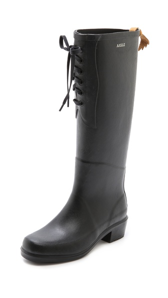 Aigle Miss Juliette Lace Up Boots - Black at Shopbop / East Dane