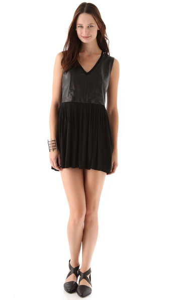 AIKO Crawford B Leather Dress