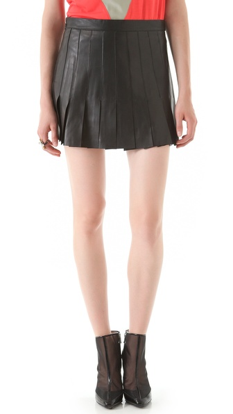 AIKO Blythe Leather Skirt