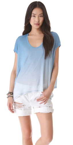 AIKO Schmidt Draped Hem Top
