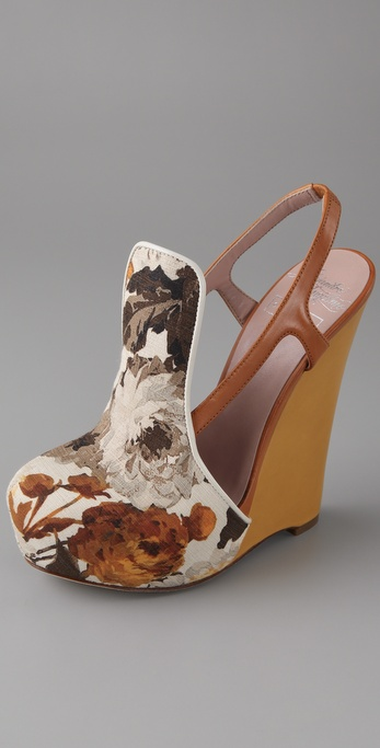 Alejandro Ingelmo for CHRIS BENZ Floral Wedge Pumps