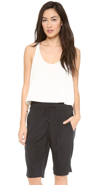 Alasdair Cropped Layered Tank