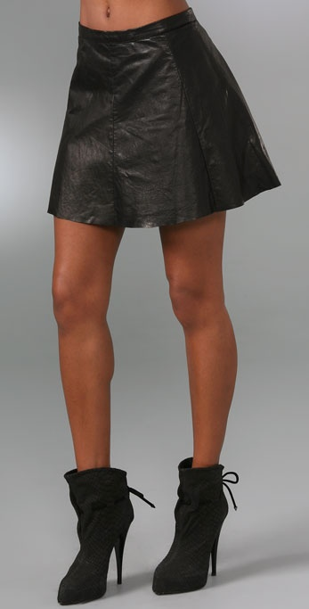 A.L.C. Leather Laight Skirt