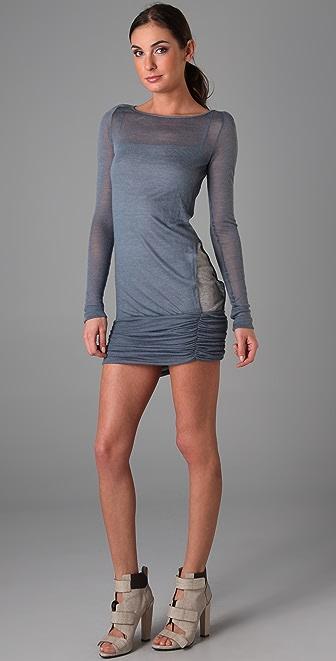 A.L.C. Boat Neck Side Slit Dress