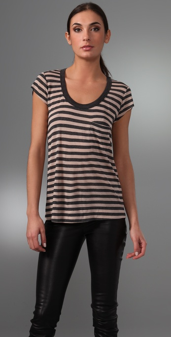 A.L.C. Classic Striped Pocket Tee