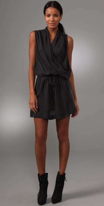 A.L.C. Silk Side Drape Dress