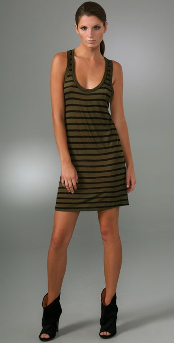 A.L.C. Racer Back Striped Tank Dress