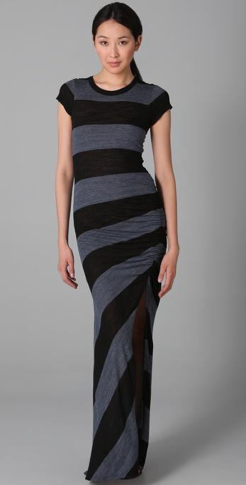 A.L.C. Striped Paloma Long Dress
