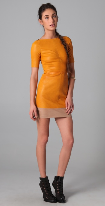 A.L.C. Sienna Leather Dress