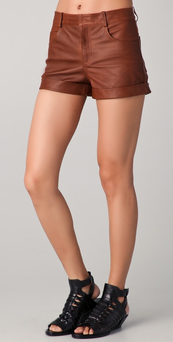 A.L.C. Cece Leather Shorts