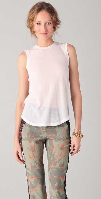 A.L.C. Fiona Scoop Back Tee