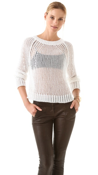 A.L.C. Crop Open Stitch Sweater