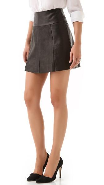 A.L.C. Esme Leather Skirt