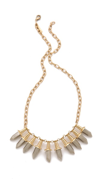 A.L.C. Faceted Push Pin Necklace
