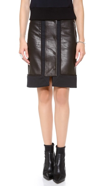 A.L.C. Nestler Leather Skirt